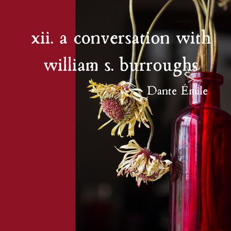 xii. a conversation with william s. burroughs, Dante Émile