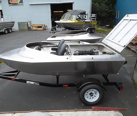 Mini aluminum jet boat kits