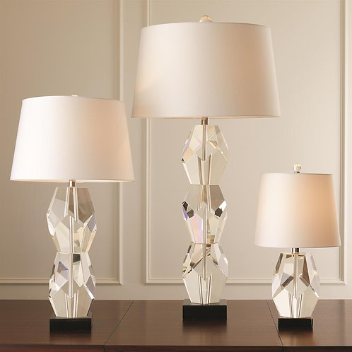 LARGE CRYSTAL FACET LAMP