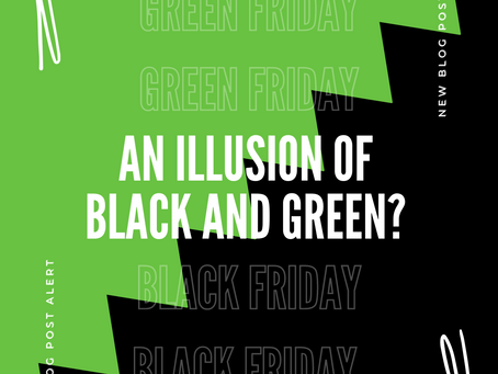 An illusion of black and green?