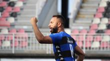 Rafinha Potiguar vibra com o gol que deu a primeira vitória do Peixe na Série B
