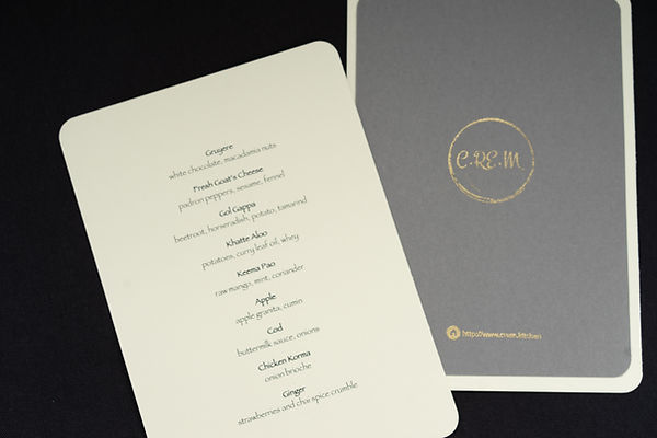 CREM Kitchen Menu