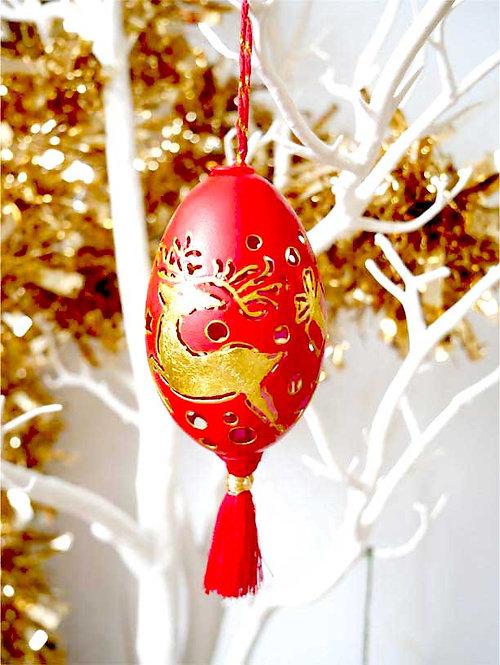 Red goose egg Christmas ornament