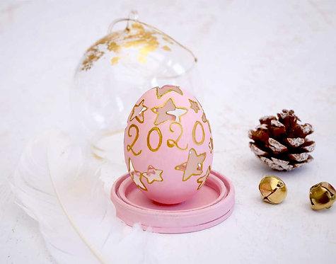 Pastel pink Christmas Ornament