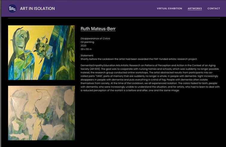 "Virtual Exhibition ""Art in Isolation"""
