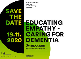Educating Empathy -Caring for Dementia