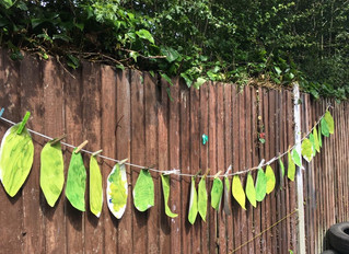 Making leaves for our Summer tree