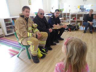 An exciting visit from the Fire Brigade !