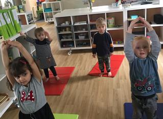 Yoga class in full swing