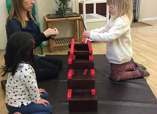 Combining the Montessori sensorial equipment