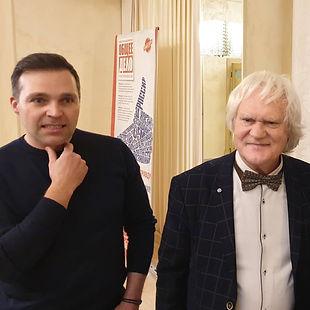 Юрий Куклачев и режиссер Алексей Свиридов