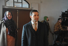 Актер Алексей Свиридов на съемках