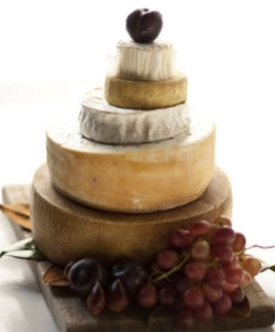 Cheese wedding cakes can be ordered