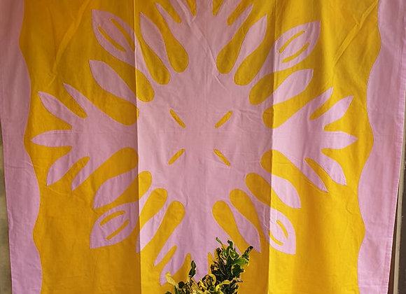 Tifaifai Bébé Traditionnel - Apetahi Jaune/Rose
