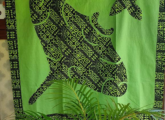 Tifaifai Bébé Marquisien - Fai (Raie) Vert Anis/Noir