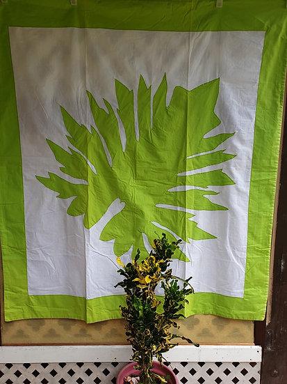 Tifaifai Bébé Traditionnel - Ape Mahaehae Vert/lanc