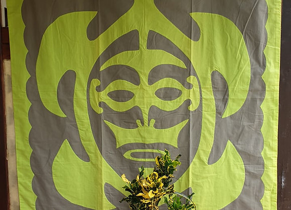 Tifaifai Bébé Traditionnel - Honu (La Tortue) Gris/Vert