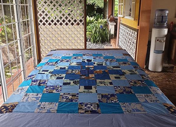 Tifaifai Patchwork - Le Bleu Océan