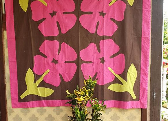 Tifaifai Bébé Traditionnel - Aute (Hibiscus) Tricolore