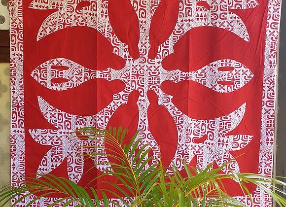 Tifaifai Bébé Marquisien - Apetahi Rouge/Blanc