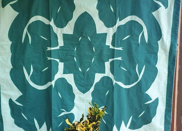 Tifaifai Bébé Traditionnel - Fleur Vert/Vert Foncé