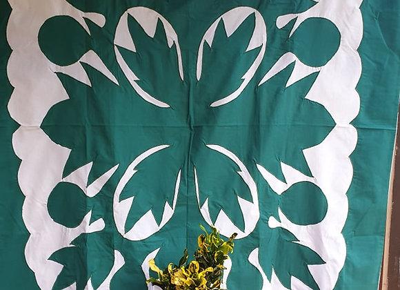 Tifaifai Bébé Traditionnel - Uru Blanc/Vert