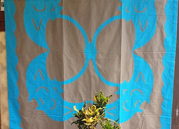 Tifaifai Bébé Traditionnel - Fai (Raie) Gris/Bleu