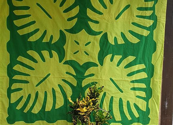Tifaifai Bébé Traditionnel - Ape Mahaehae Vert/Vert Anis