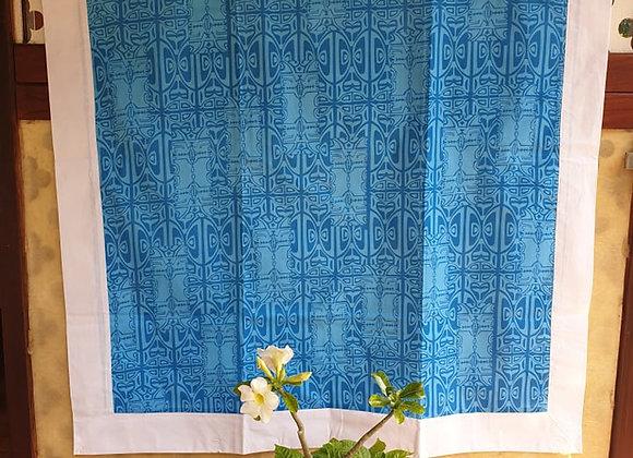 Tifaifai Bébé Aroaro - Tatau Bleu/Blanc