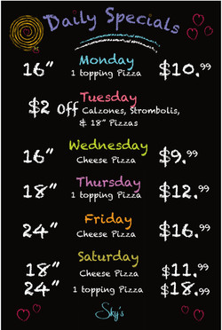 Daily Specials 960