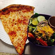 Slice, Salad, and Drink