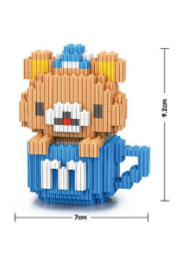 Bear- Blue (Large Mini Block)