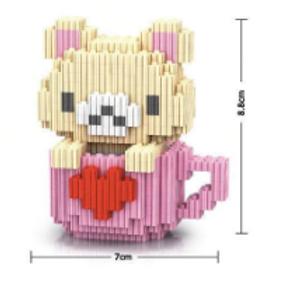 Bear- Pink (Large Mini Block)