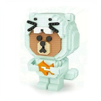 Brown Bear Catch Fish [Mini Block Series]