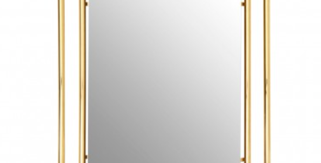 Gold Overlapped Design Wall Mirror