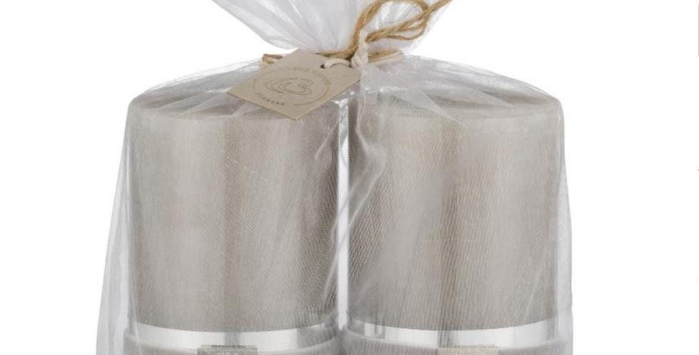 Lene Bjerre Silver Grey Candles -Set