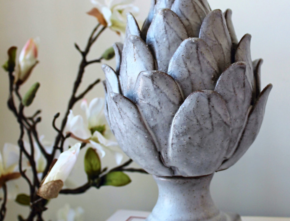 Grey Ceramic Artichoke