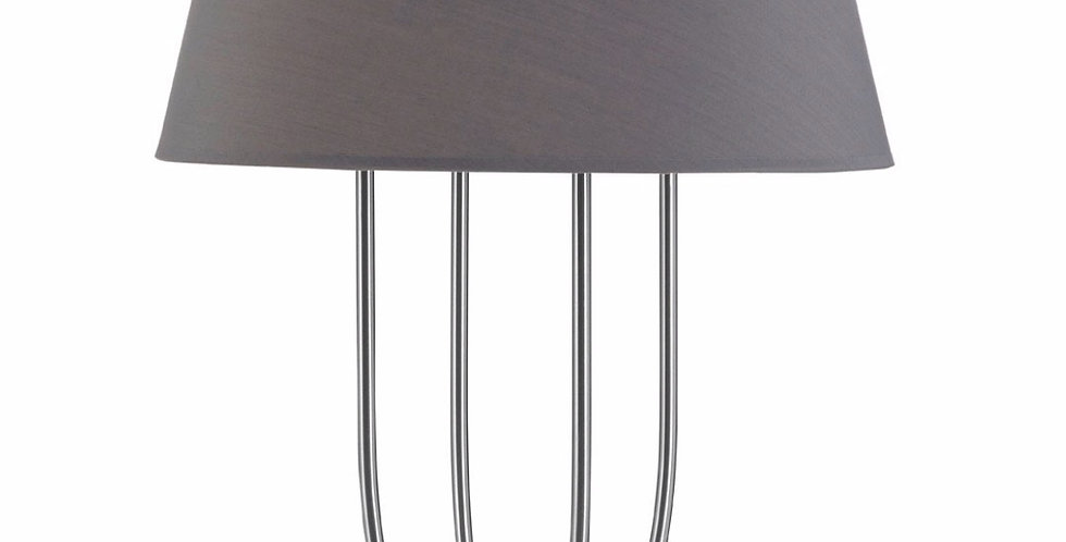 Regents Table Lamp With Grey Shade