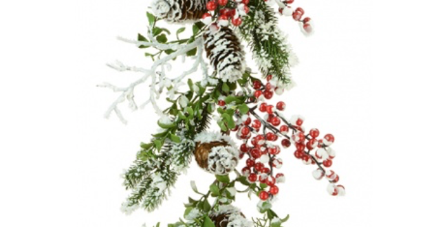 Snowy Berry And Foliage Garland