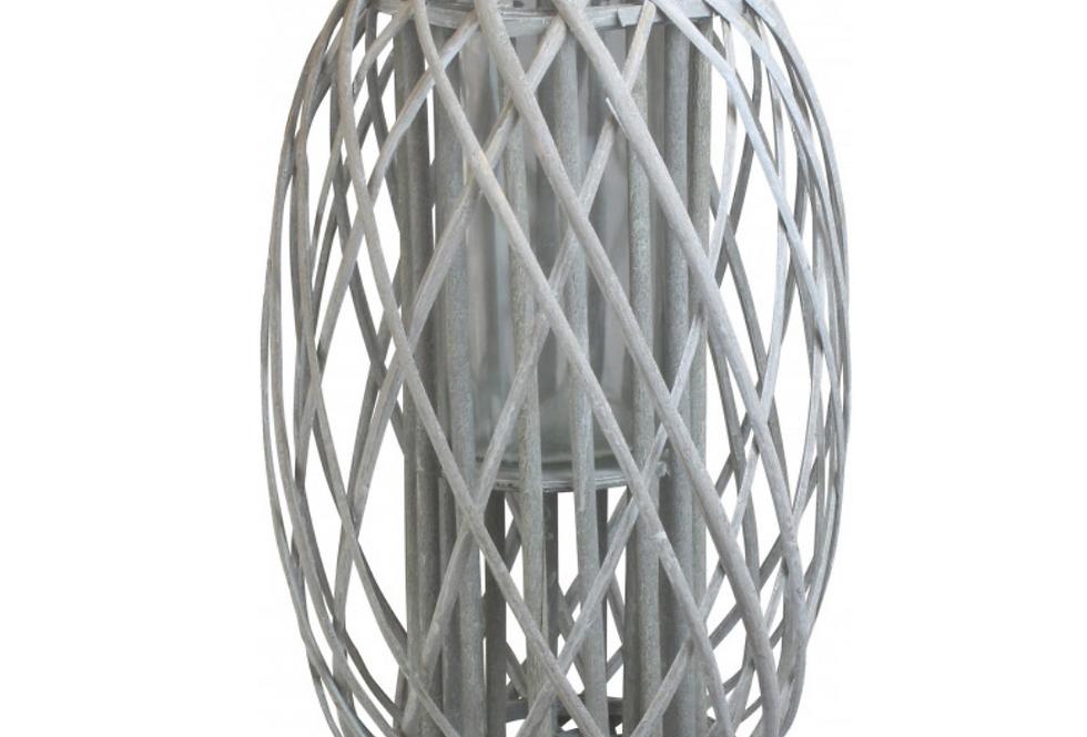Grey Wash Willow Lantern