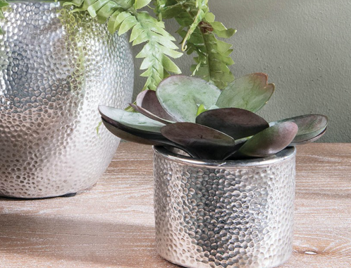 Hammered Finish Planter