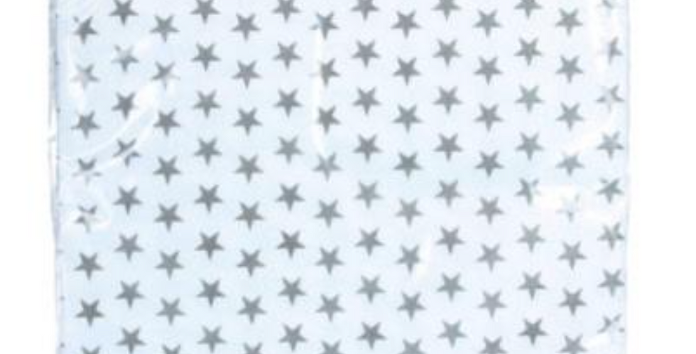 White And Grey Stars Paper Napkins - 20 Pack
