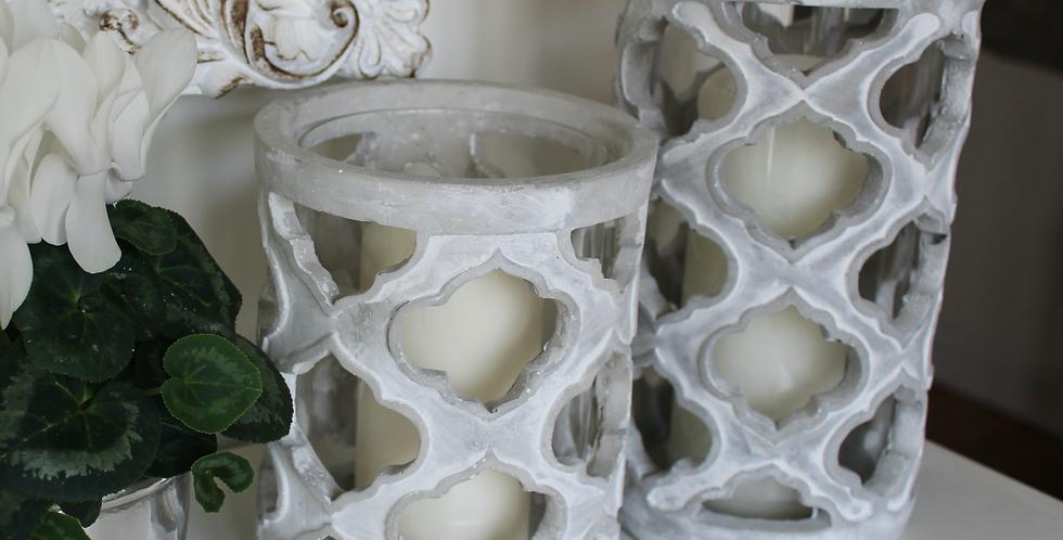 Large Stone Effect Candle Holder