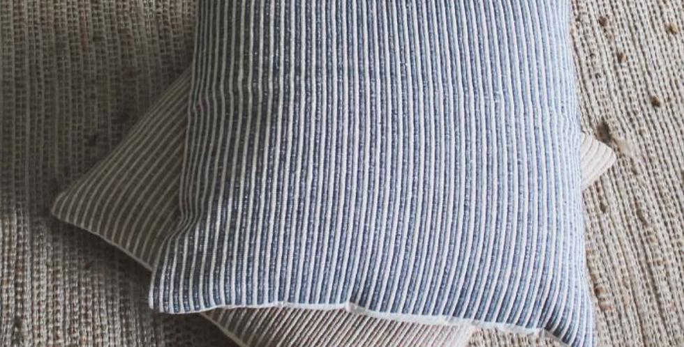 Sari Large Grey Stripe Cushion