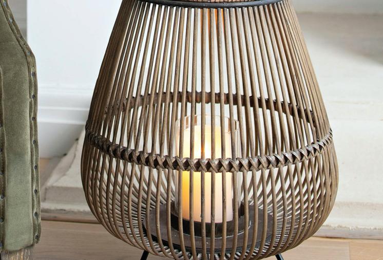 Fairfield Bamboo Hurricane Lamp