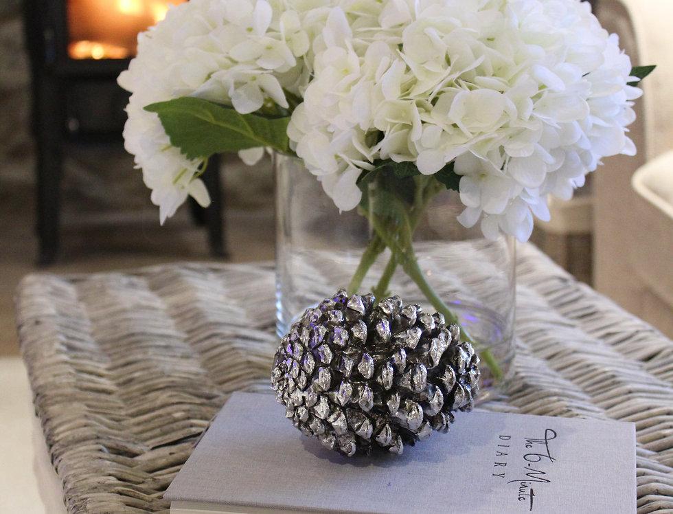 Hydrangea in Cylinder Vase