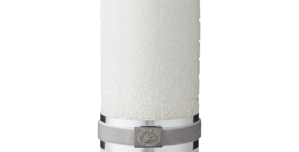 Lene Bjerre White Tile Candle