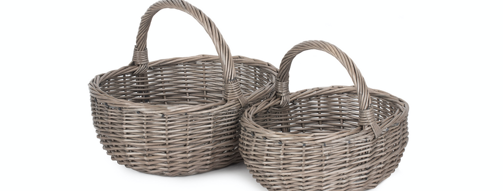 Willow Shopper Basket Set