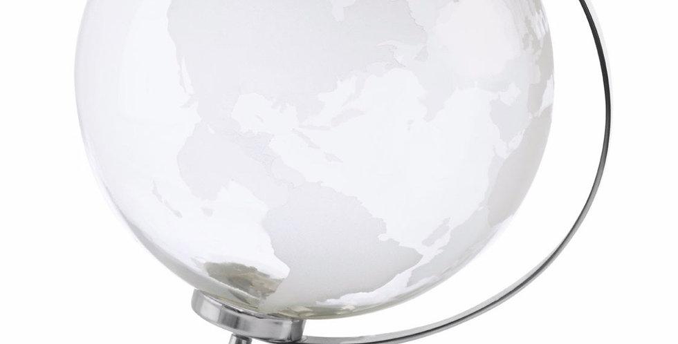 Large Silver Glass Globe