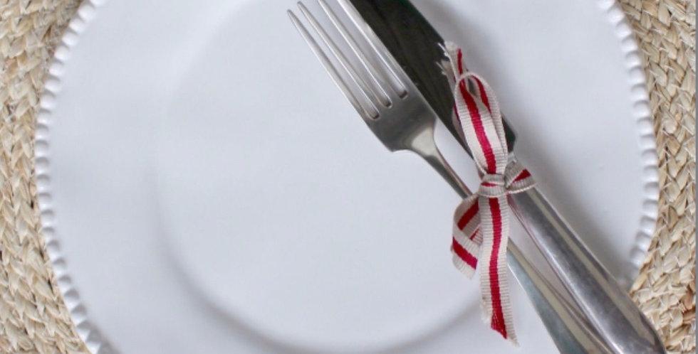 Ann Marie Dinner Plate White - Set Of Four